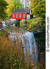Decew Falls - This is a reconstructed building of Mornigstar...