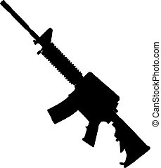 This is a silhouette of a Bushmaster rifle.