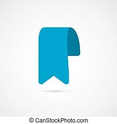 Blue bookmark icon. Vector illustration.