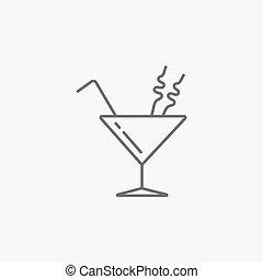 cocktail in martini glass