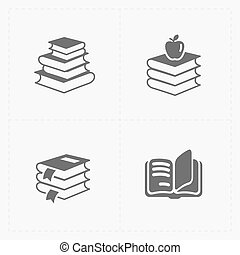Modern Web Books set on White.