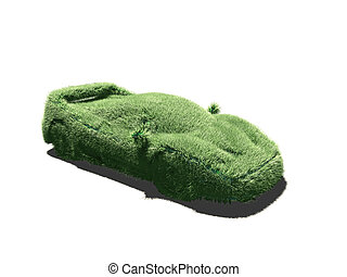 very grassy sport car