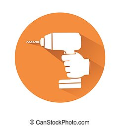 hand with drill