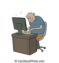 internet troll - this is an illustration of internet troll