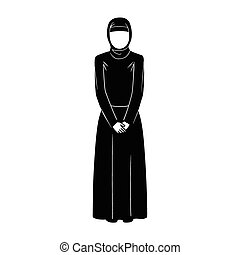 islamic woman - This is an illustration of islamic woman