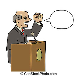politician - this is an illustration of politician saying...