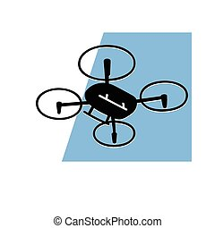 quadcopter - this is an illustration of quadcopter with...
