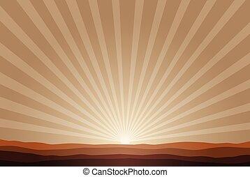 rising sun background