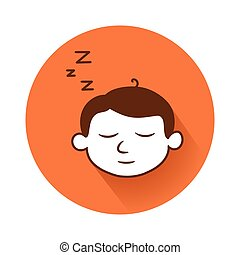 sleeping head symbol - This is an illustration of sleeping...