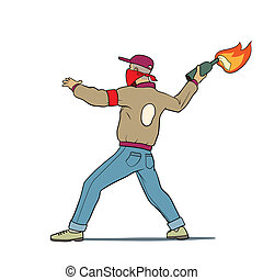 this is an illustration of street protester