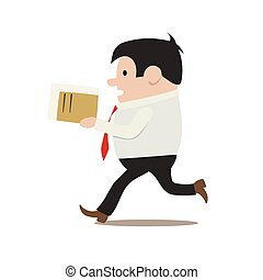 clerk in a hurry