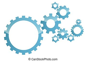 blue vector background gears