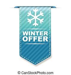 blue vector banner design winter offer