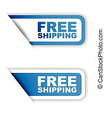 This is blue vector paper sticker free shipping (two variant)