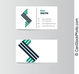 business card for letter S
