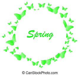 butterfly background spring