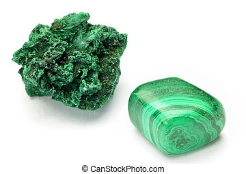 This is called malachite with a mineral.