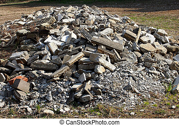 debris - This is debris after having demolished a building....