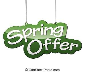 green vector background spring offer