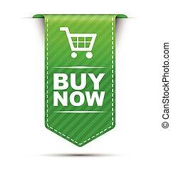 green vector banner design buy now