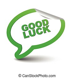green vector element bubble good luck