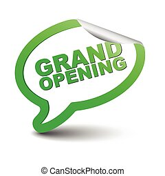 green vector element bubble grand opening