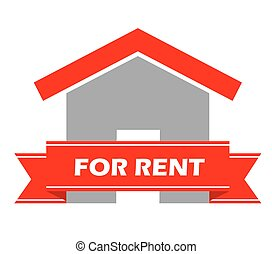This is illustration house for rent