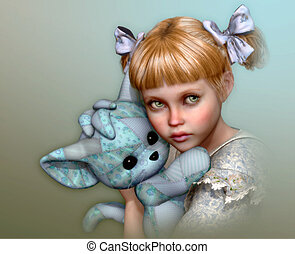 This is mine! 3d CG - 3D computer graphics of a cute girl...
