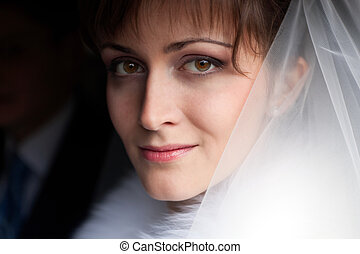 This is portrait of beautiful bride