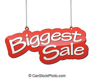 red vector background biggest sale