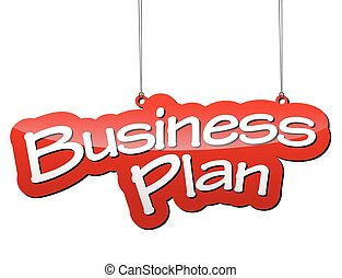 red vector background business plan