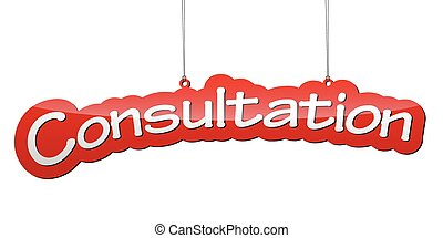 red vector background consultation