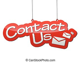 red vector background contact us