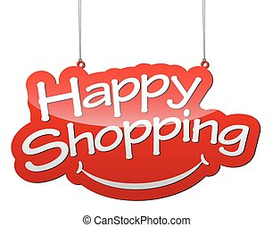 red vector background happy shopping
