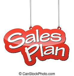 red vector background sales plan