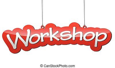 red vector background workshop