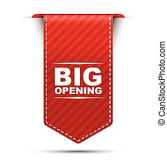 red vector banner design big opening