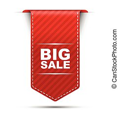 red vector banner design big sale