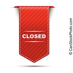 red vector banner design closed