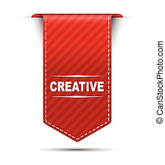 red vector banner design creative