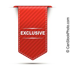 red vector banner design exclusive