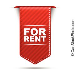 red vector banner design for rent