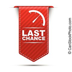 This is red vector banner design last chance