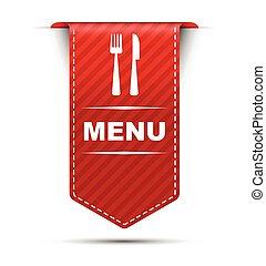 red vector banner design menu