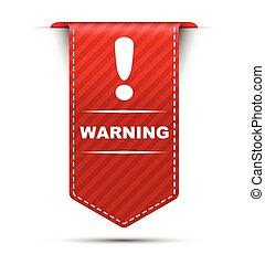 red vector banner design warning