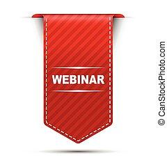 red vector banner design webinar