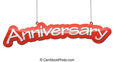 red vector illustration background anniversary