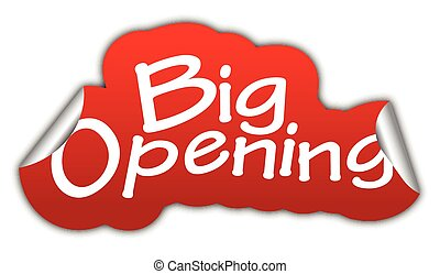 red vector sticker big opening