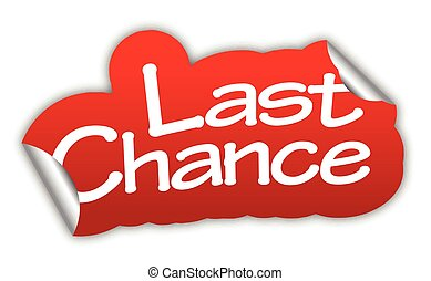 This is red vector sticker last chance