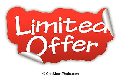 red vector sticker limited offer - This is red vector...